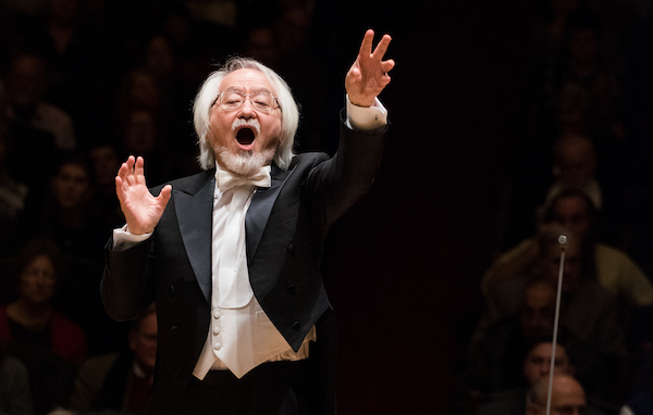 Conductor Masaaki Suzuki conducting