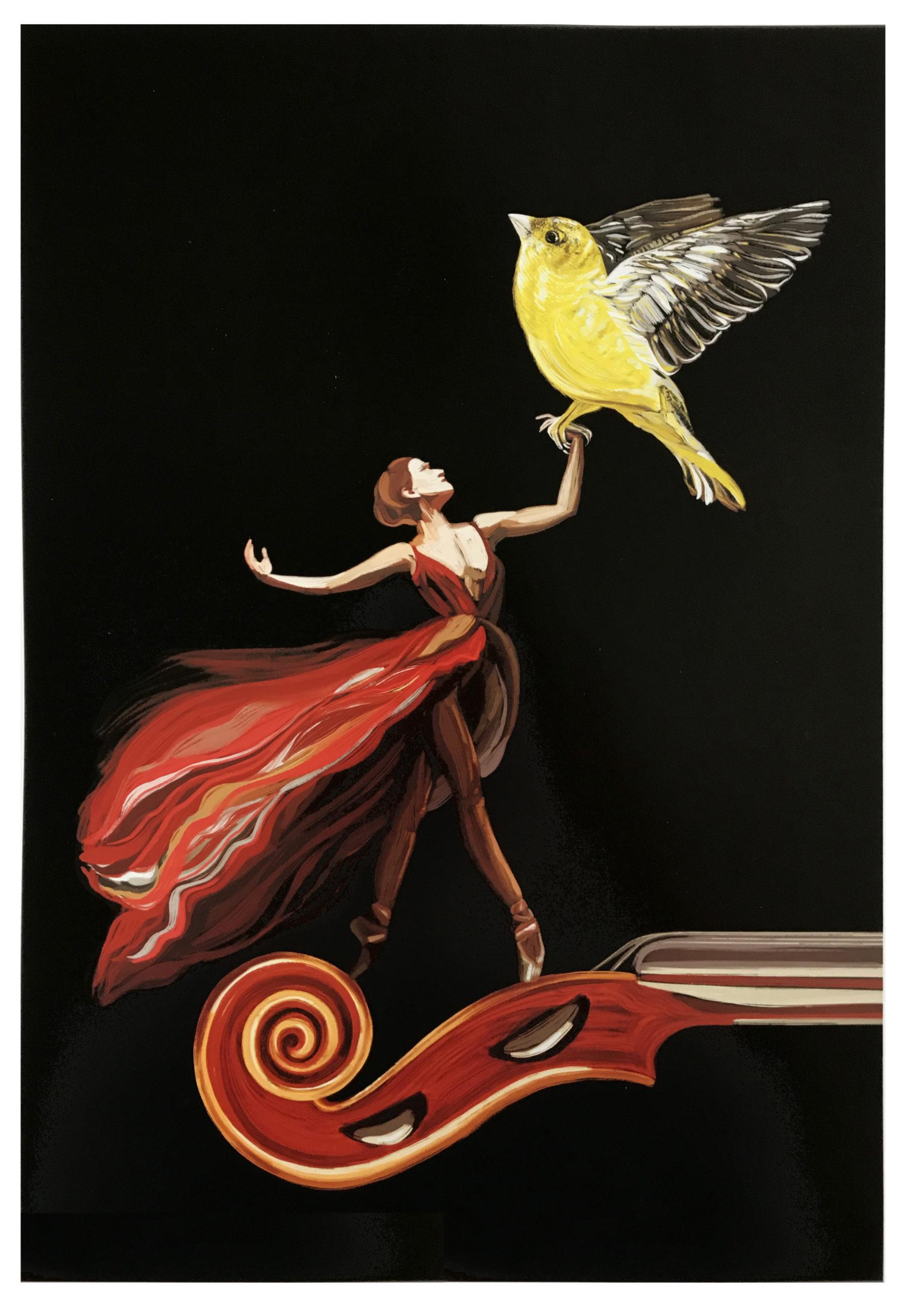 Vivaldi Four Seasons student artwork from MassArt, Emma Sudak