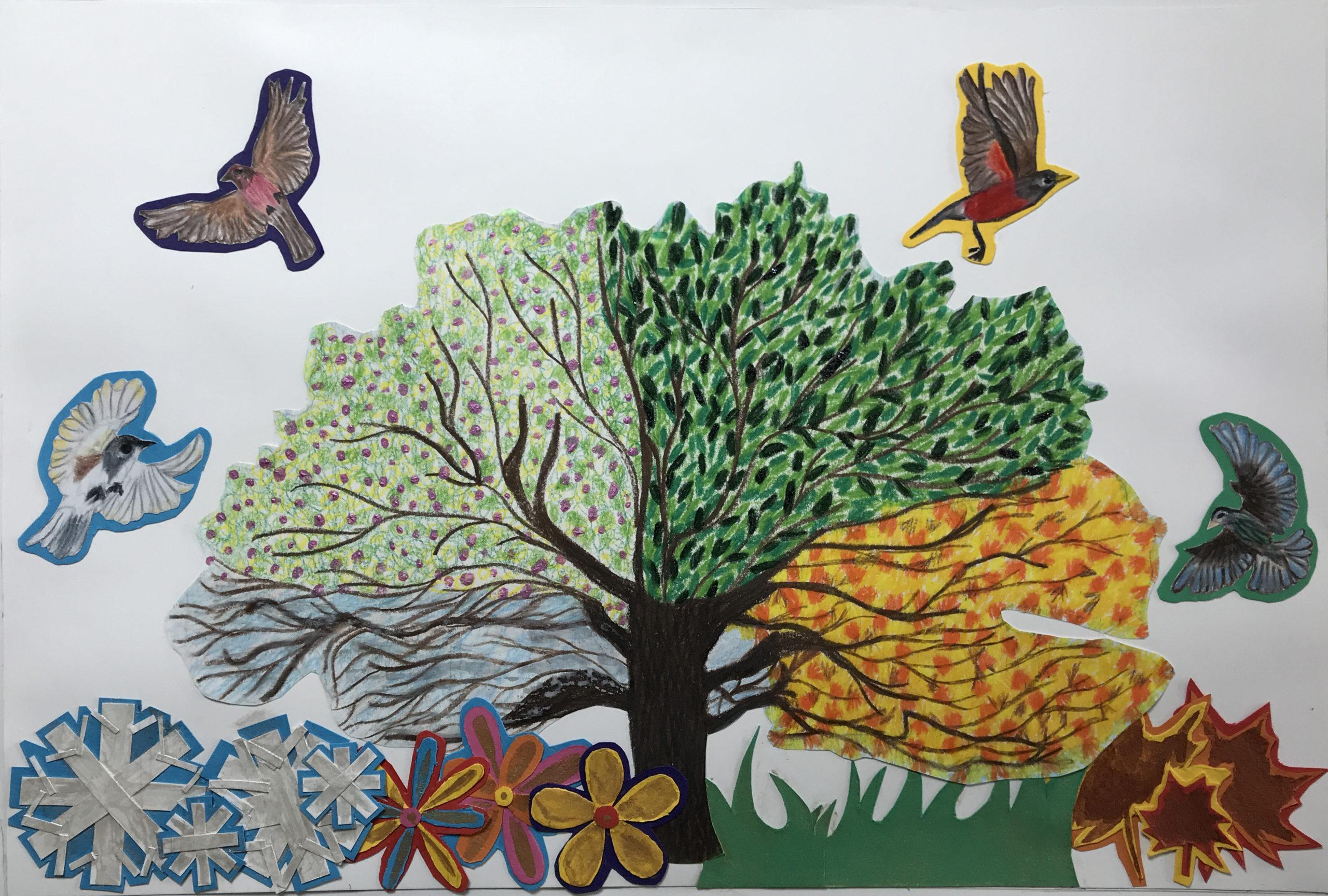 Vivaldi Four Seasons student artwork from MassArt, Ivana Levy