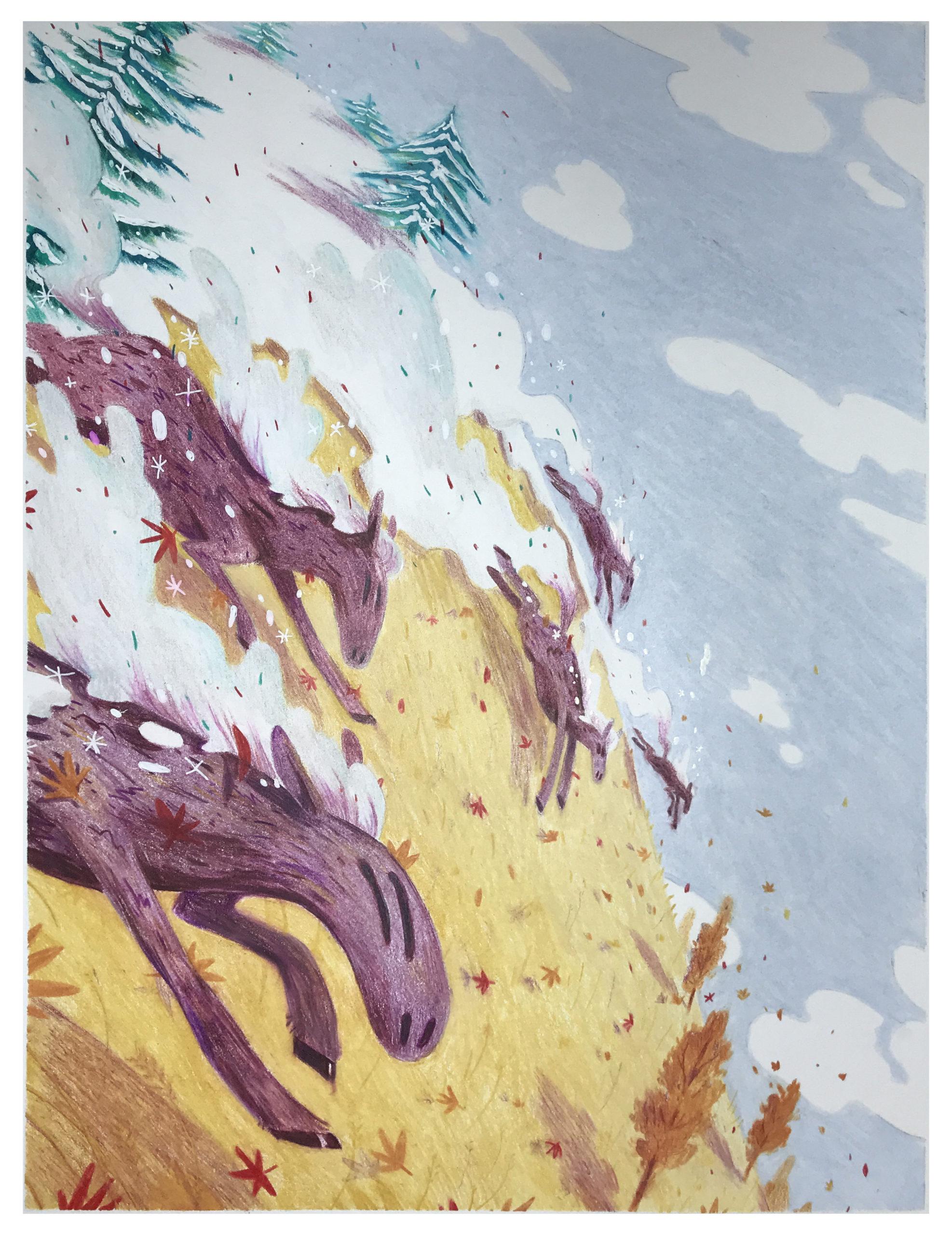 Vivaldi Four Seasons student artwork from MassArt, Caroline Barlow