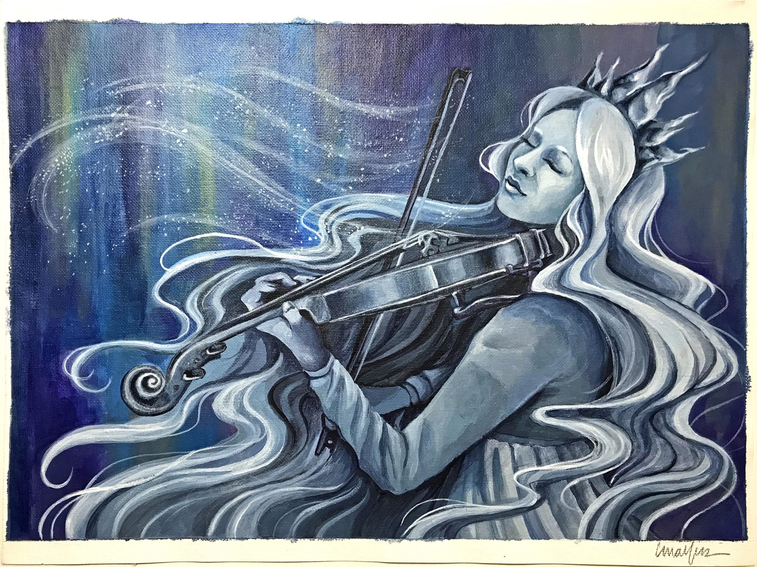 Vivaldi Four Seasons student artwork from MassArt, Christina Malfas