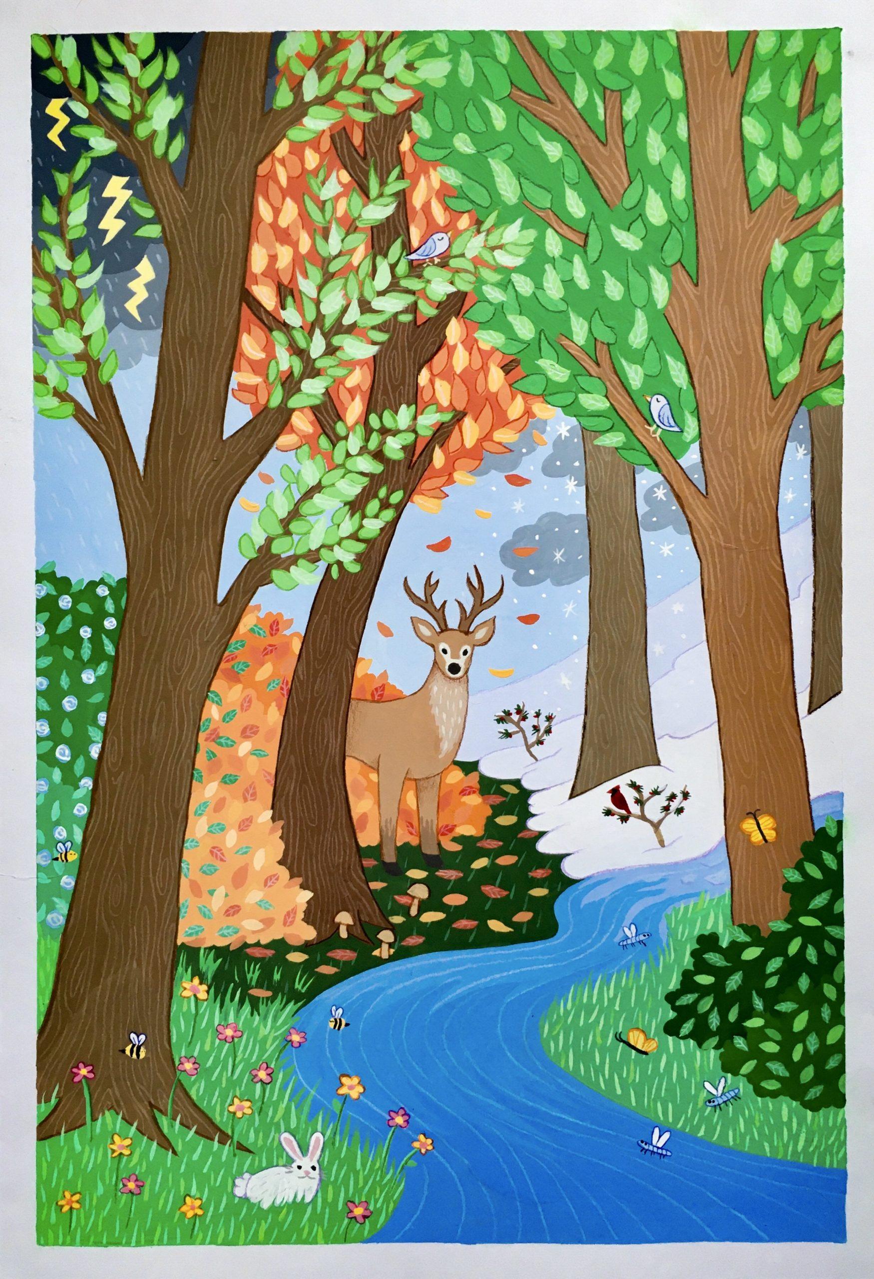 Vivaldi Four Seasons student artwork from MassArt, Leah Payne