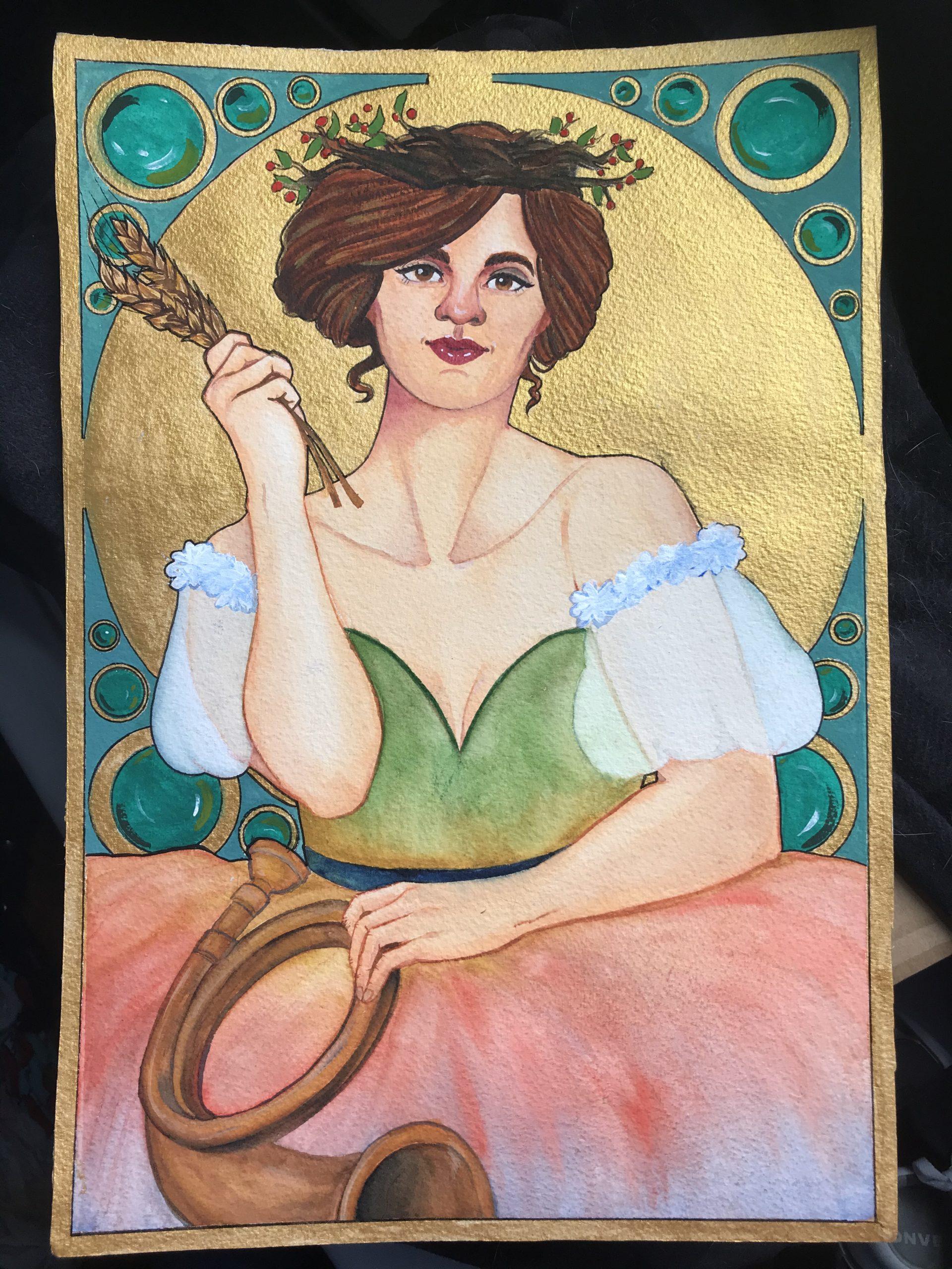Vivaldi Four Seasons student artwork from MassArt, Hayden Brayton