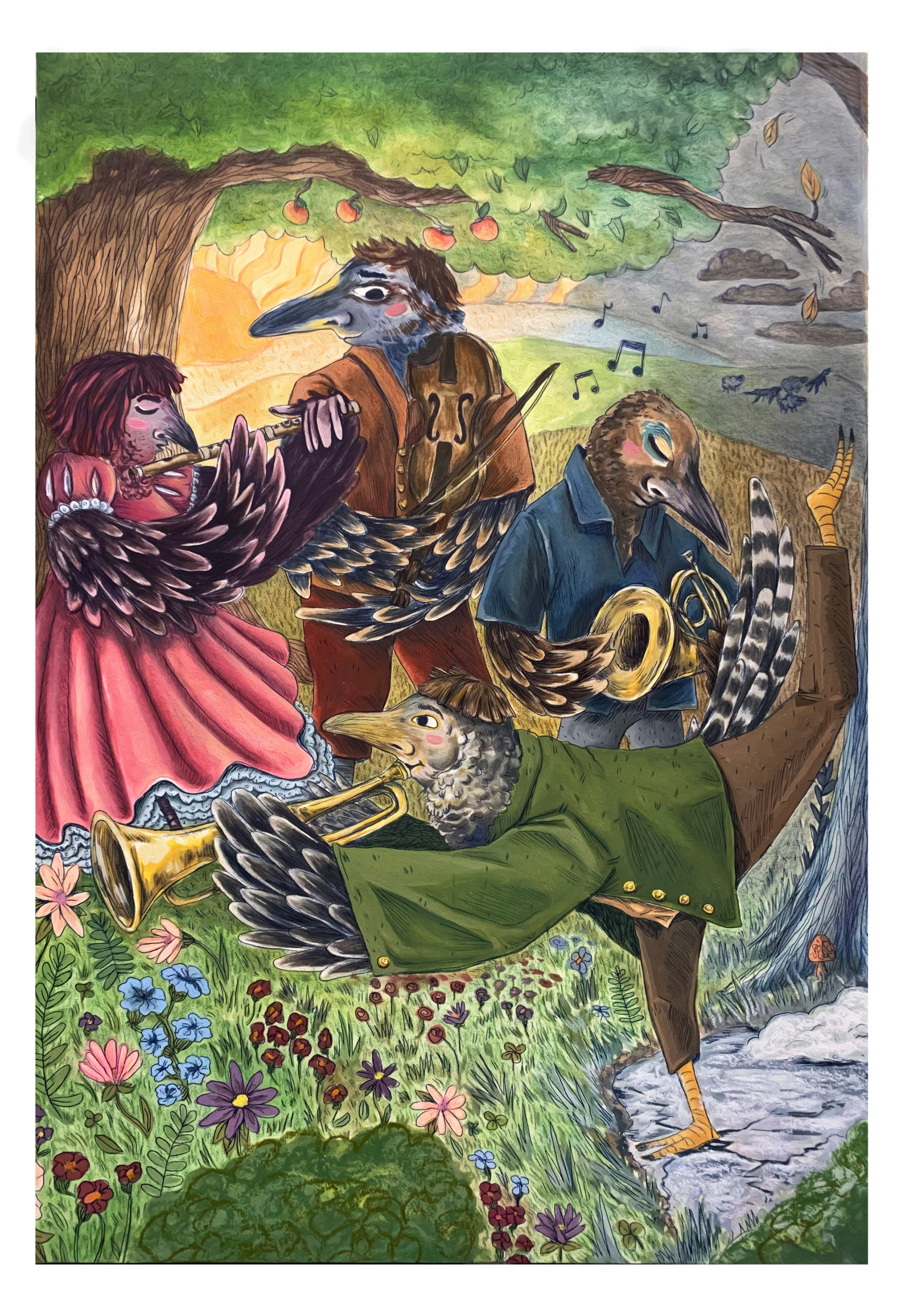 Vivaldi Four Seasons student artwork from MassArt, Jen Treadway
