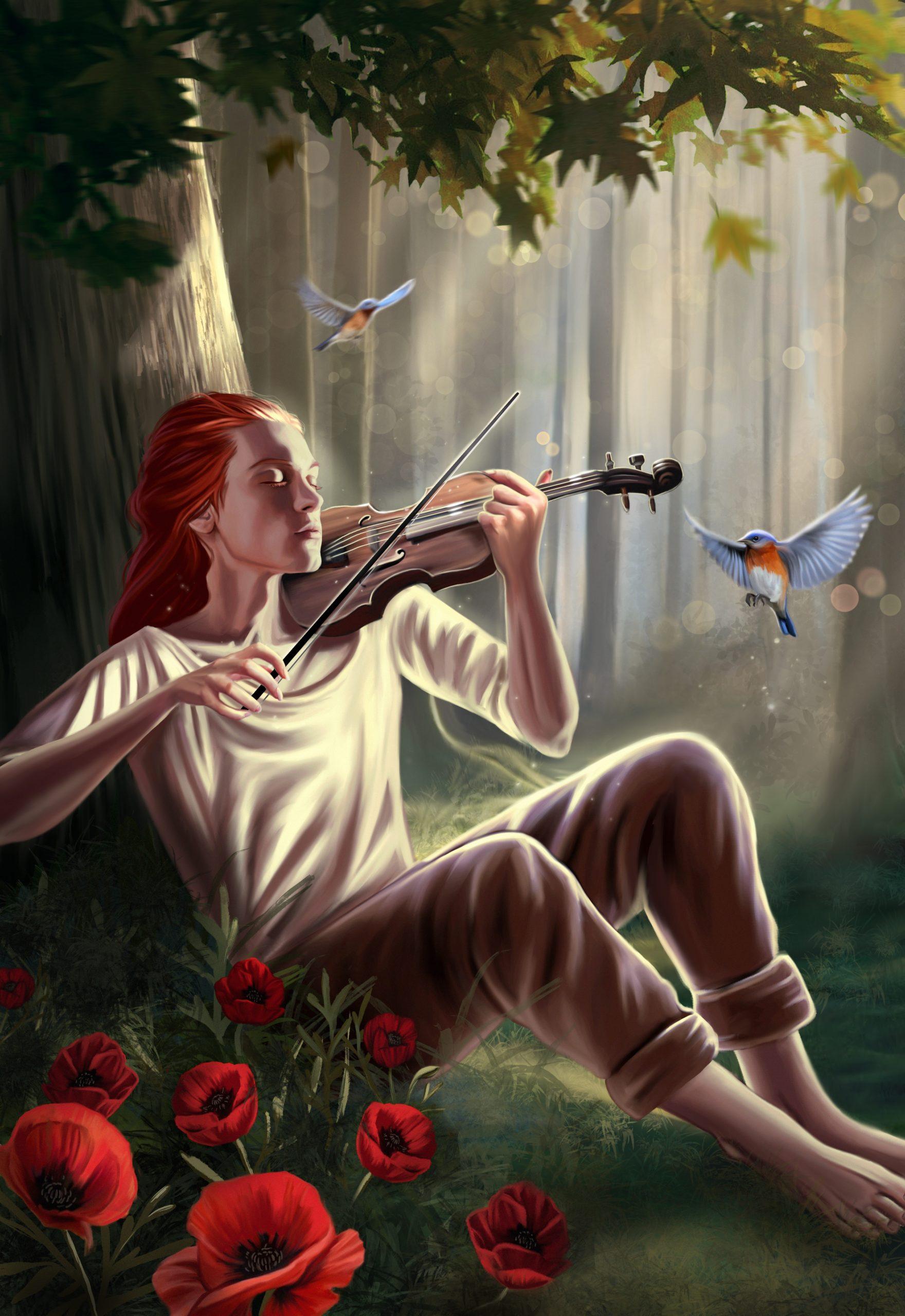 Vivaldi Four Seasons student artwork from MassArt, Lauren Richelieu