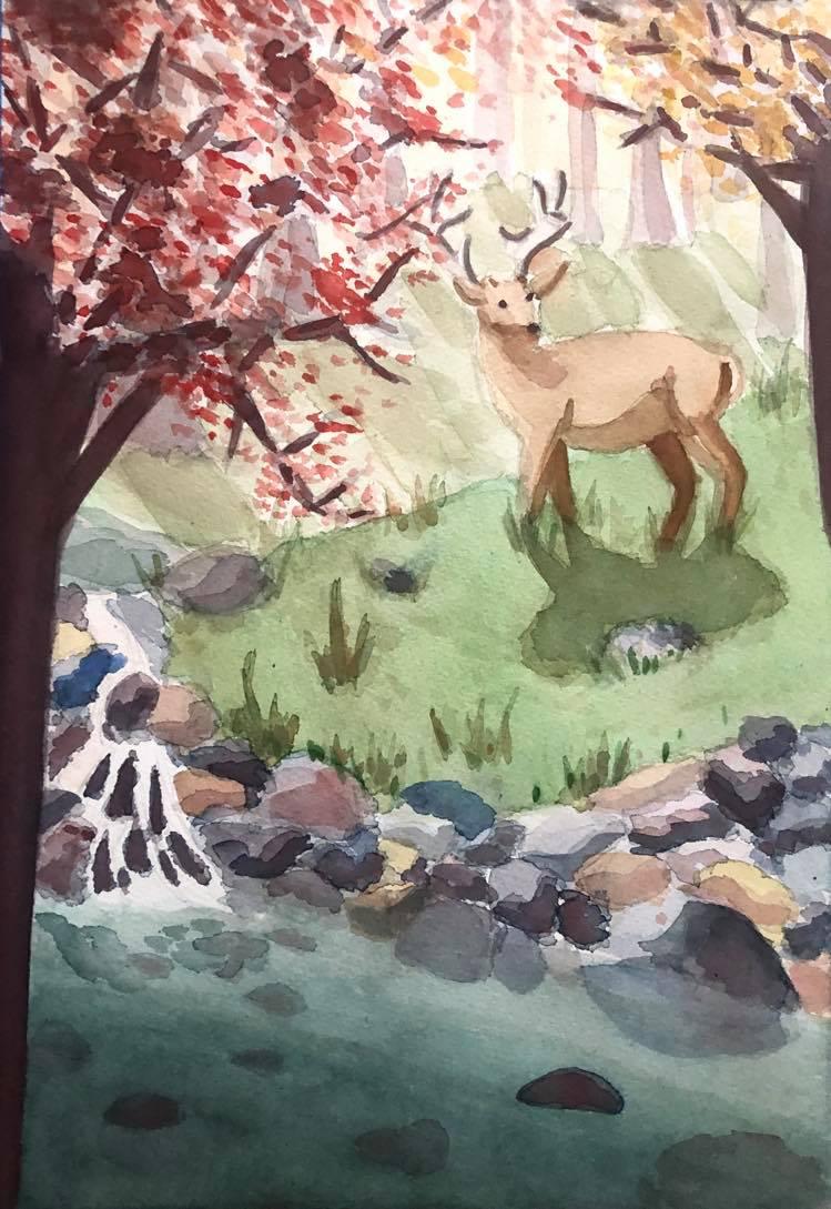 Vivaldi Four Seasons student artwork from MassArt, Meredith Lynn