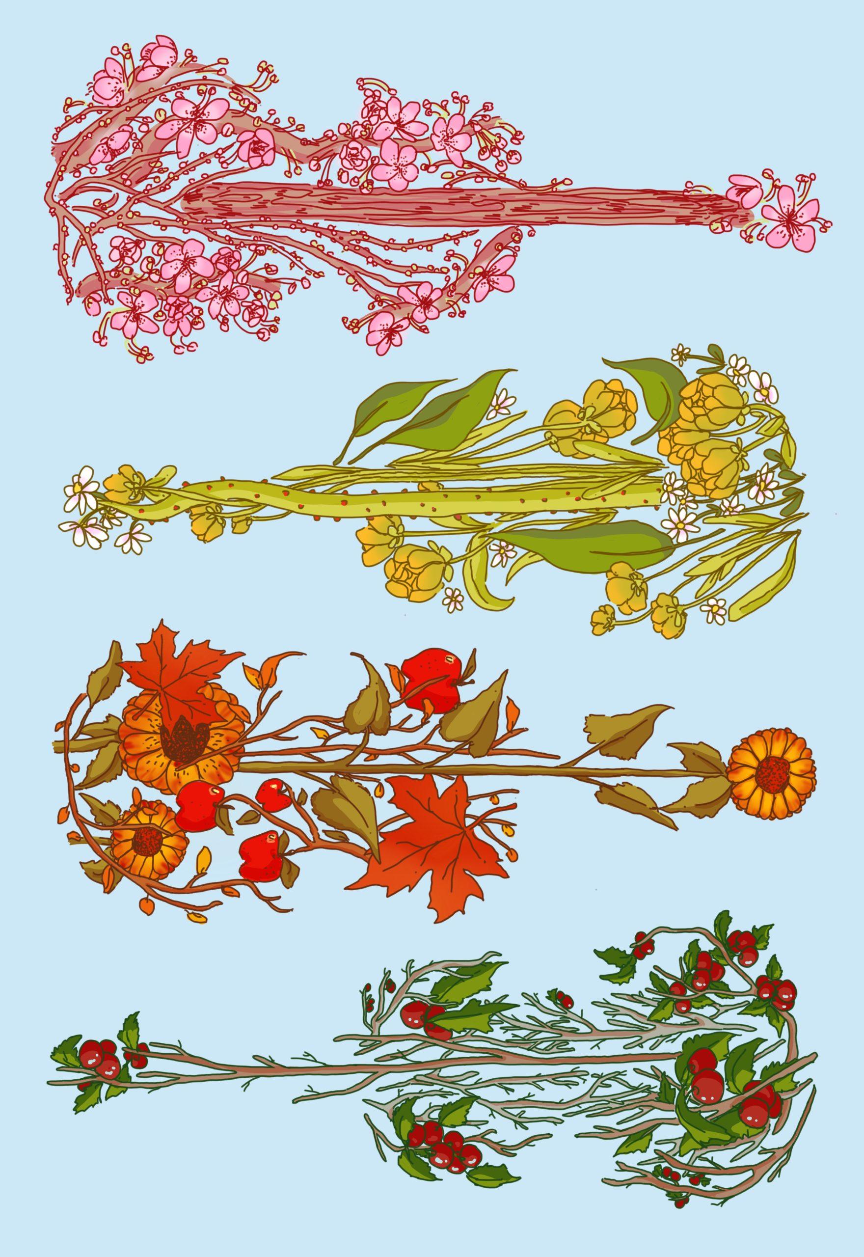 Vivaldi Four Seasons student artwork from MassArt, Dakot Gillies