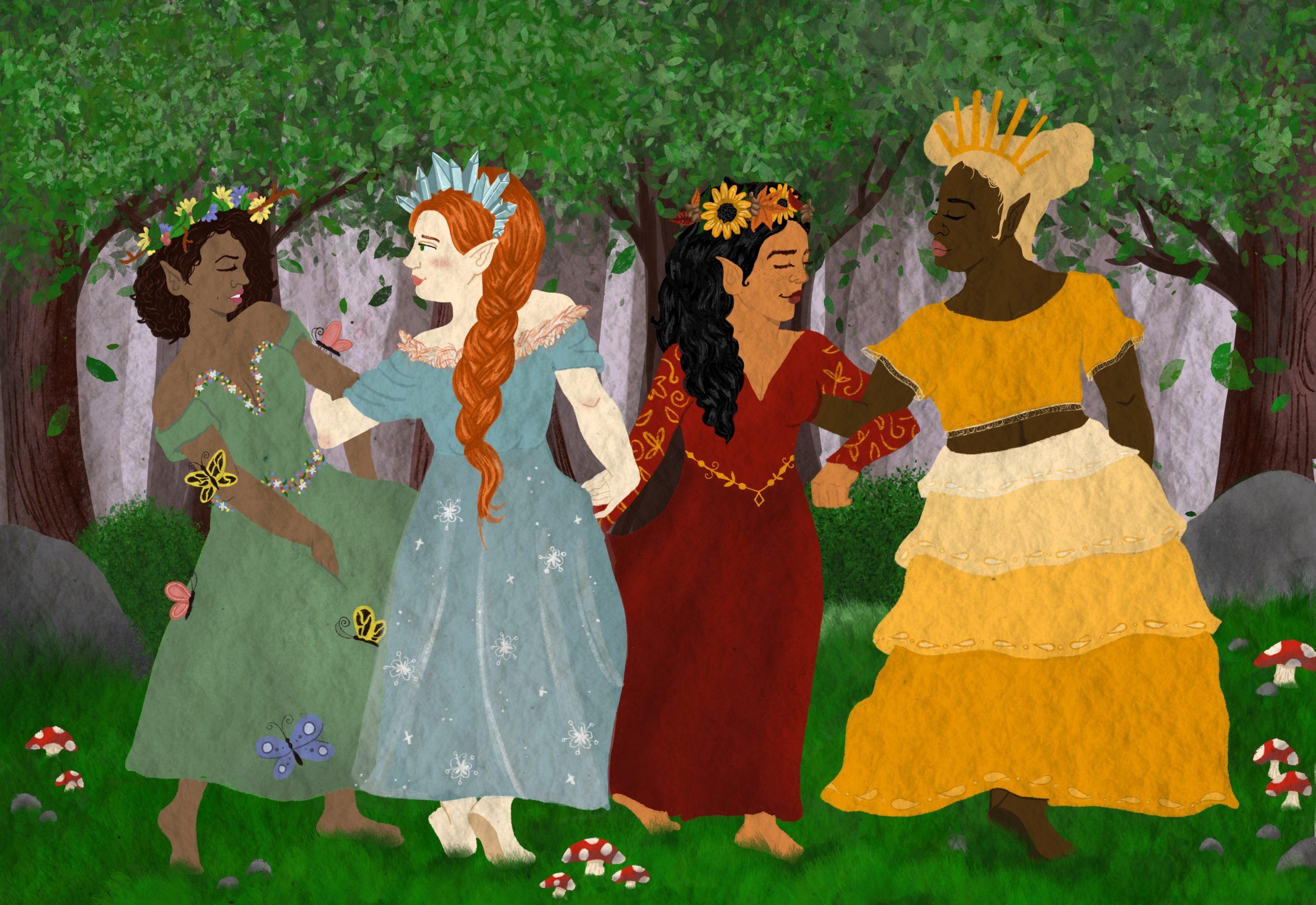Vivaldi Four Seasons student artwork from MassArt, Katiana Rodriguez