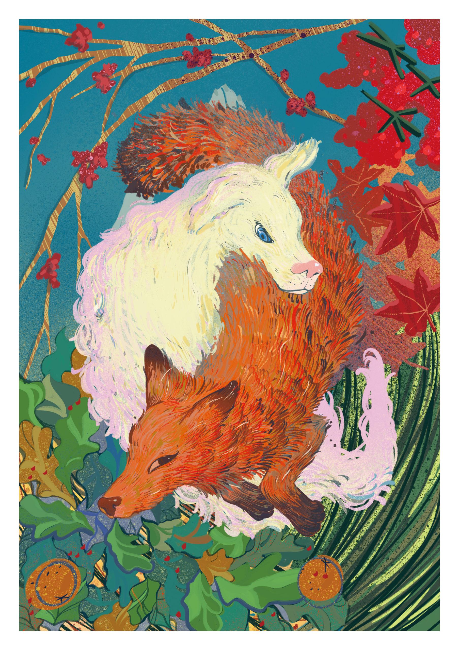 Vivaldi Four Seasons student artwork from MassArt, Yuan Yuan Wang