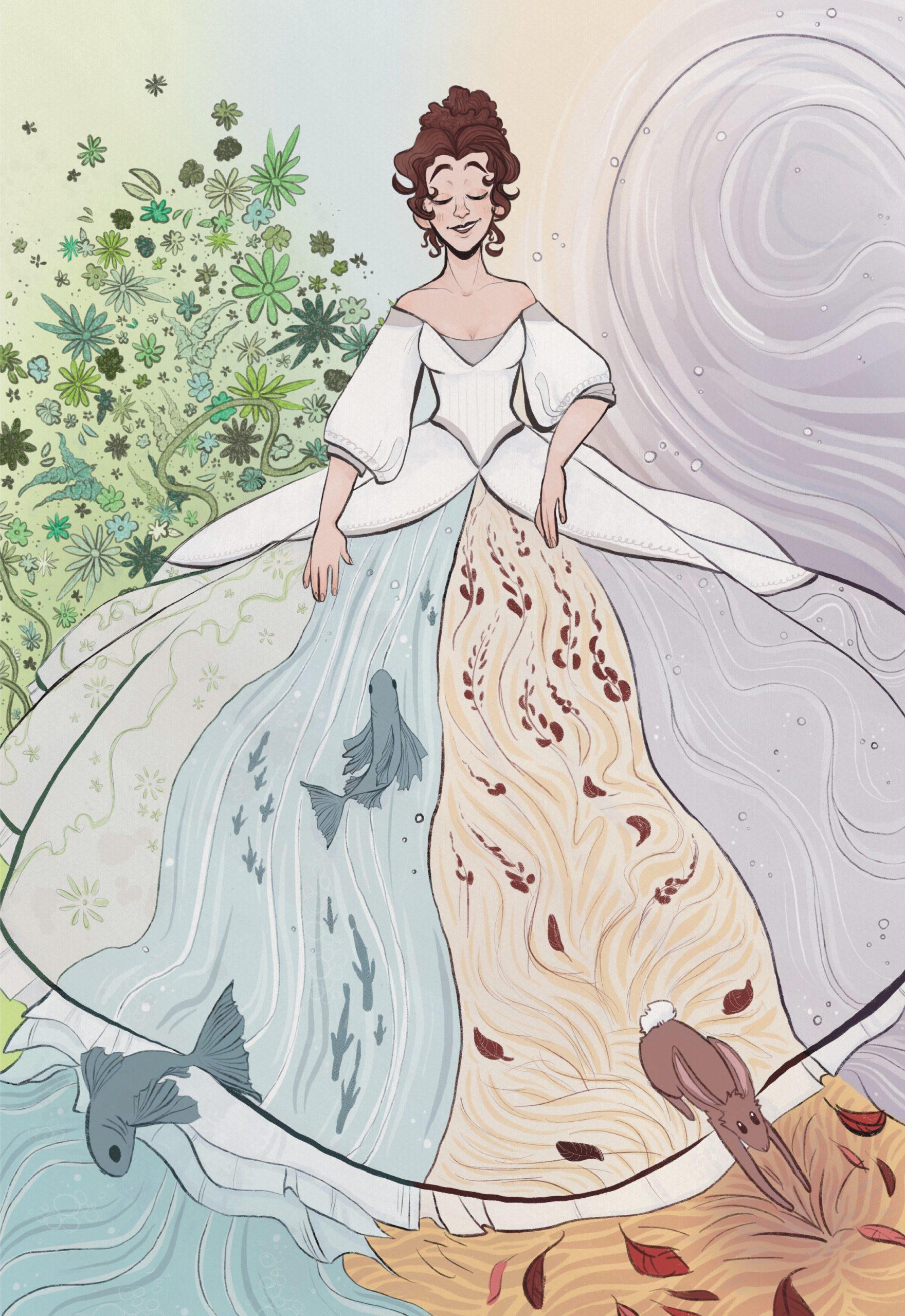 Vivaldi Four Seasons student artwork from MassArt, Sierra Escobales