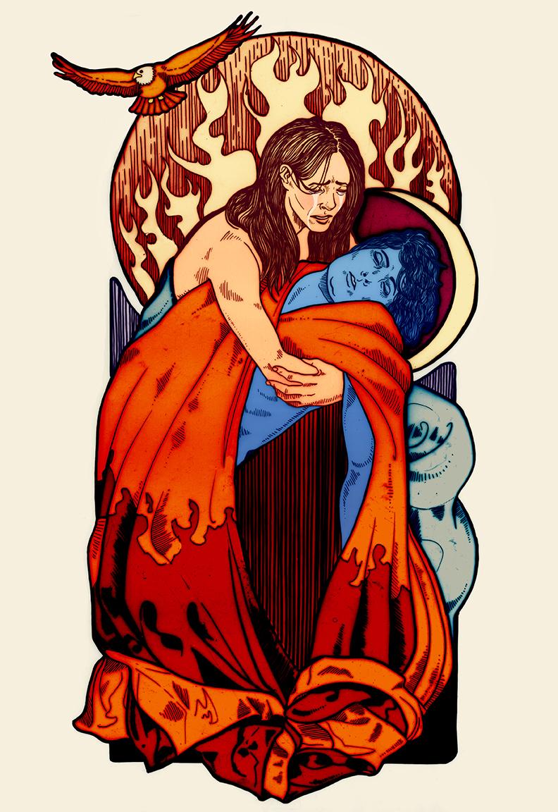 Hercules student artwork from MassArt, Bischof