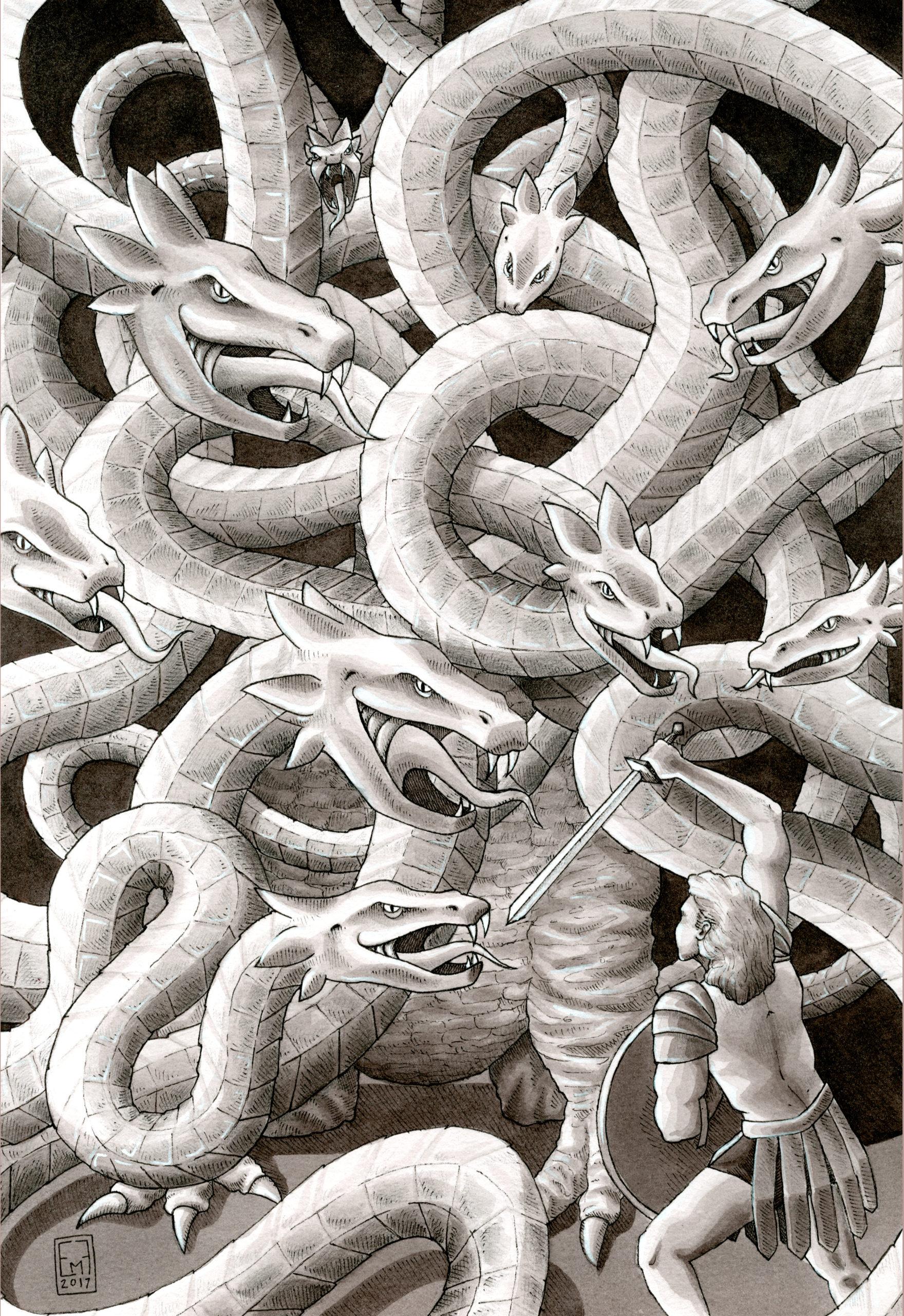 Hercules student artwork from MassArt, Fortier