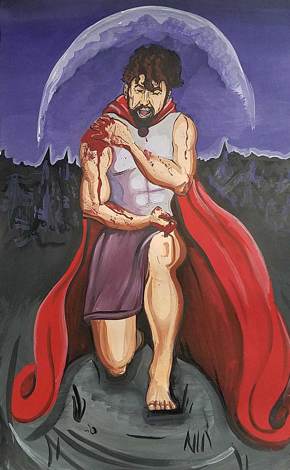 Hercules student artwork from MassArt, Fournier