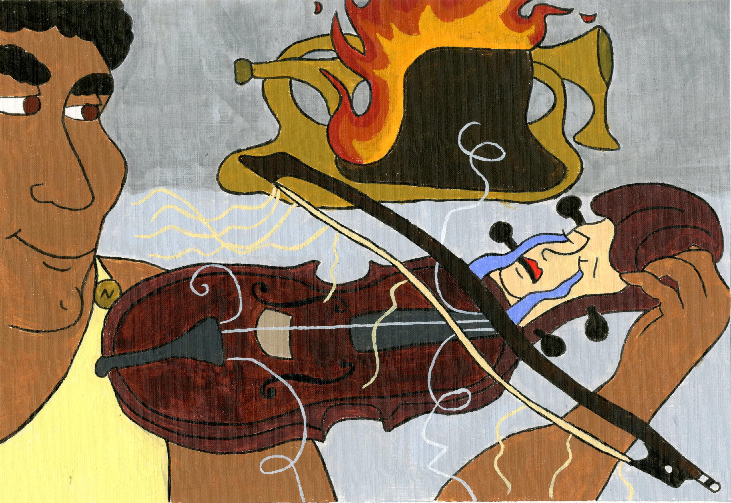 Hercules student artwork from MassArt, Jean