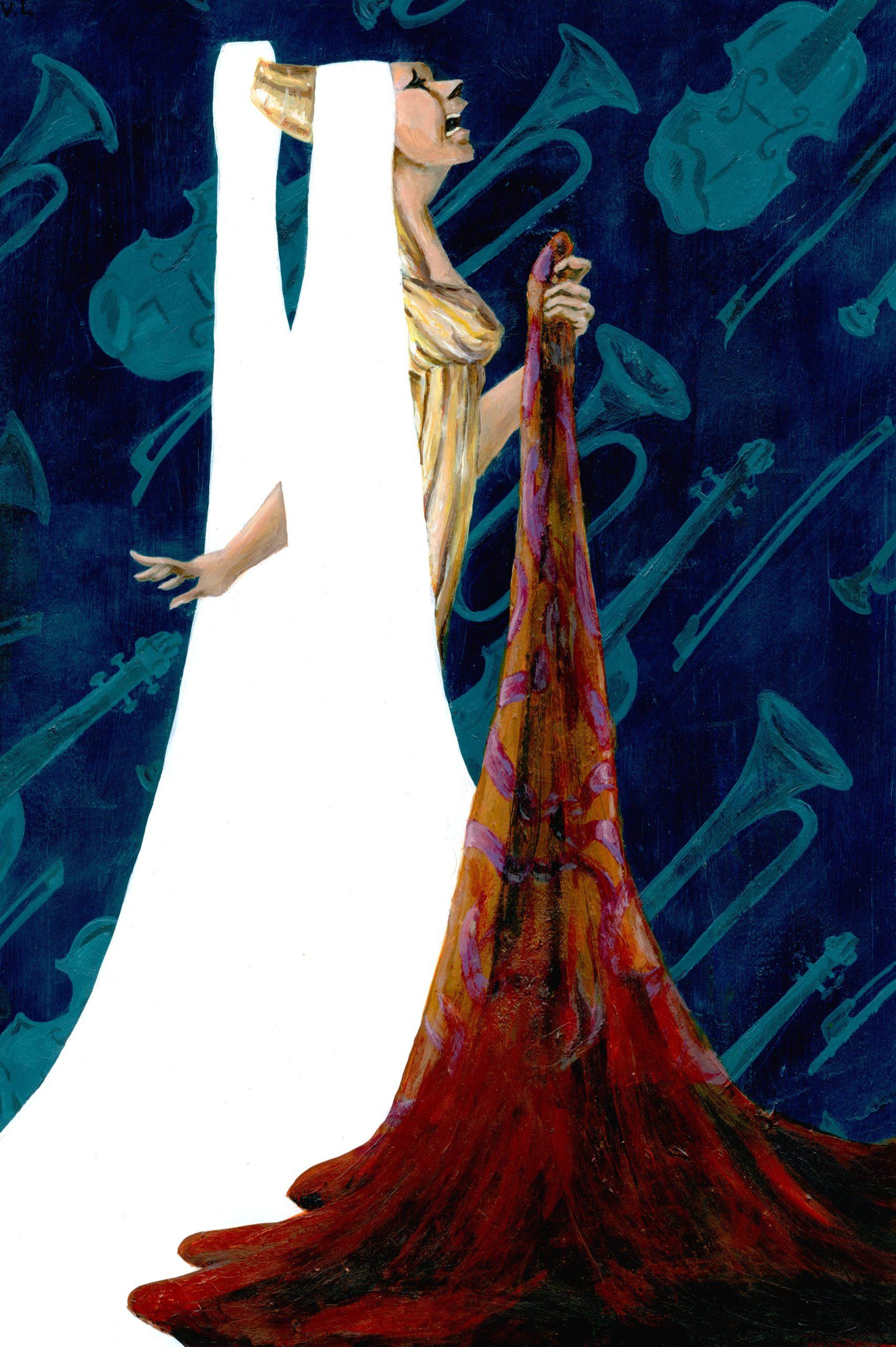 Hercules student artwork from MassArt, LaChapelle