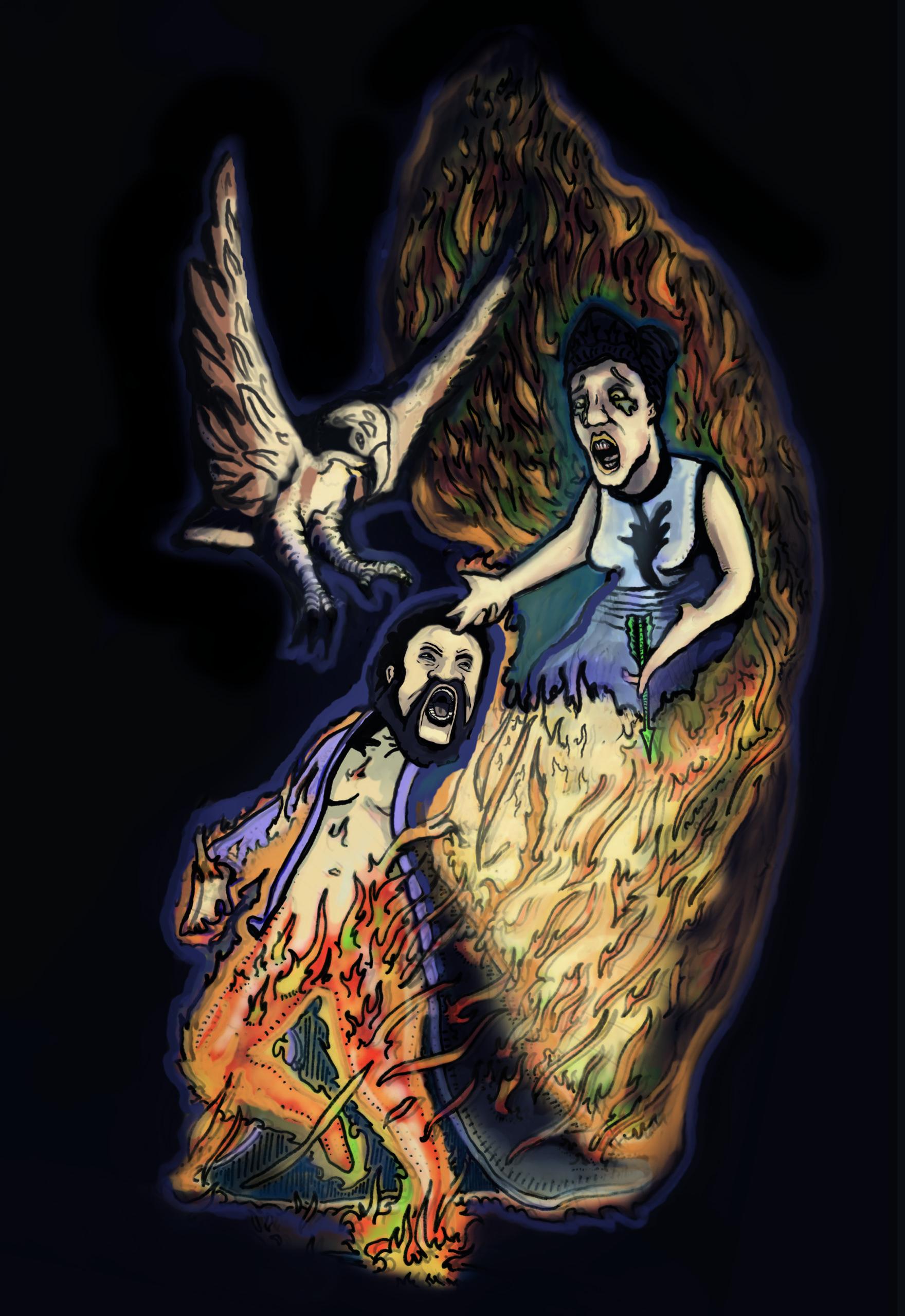 Hercules student artwork from MassArt, MacNab