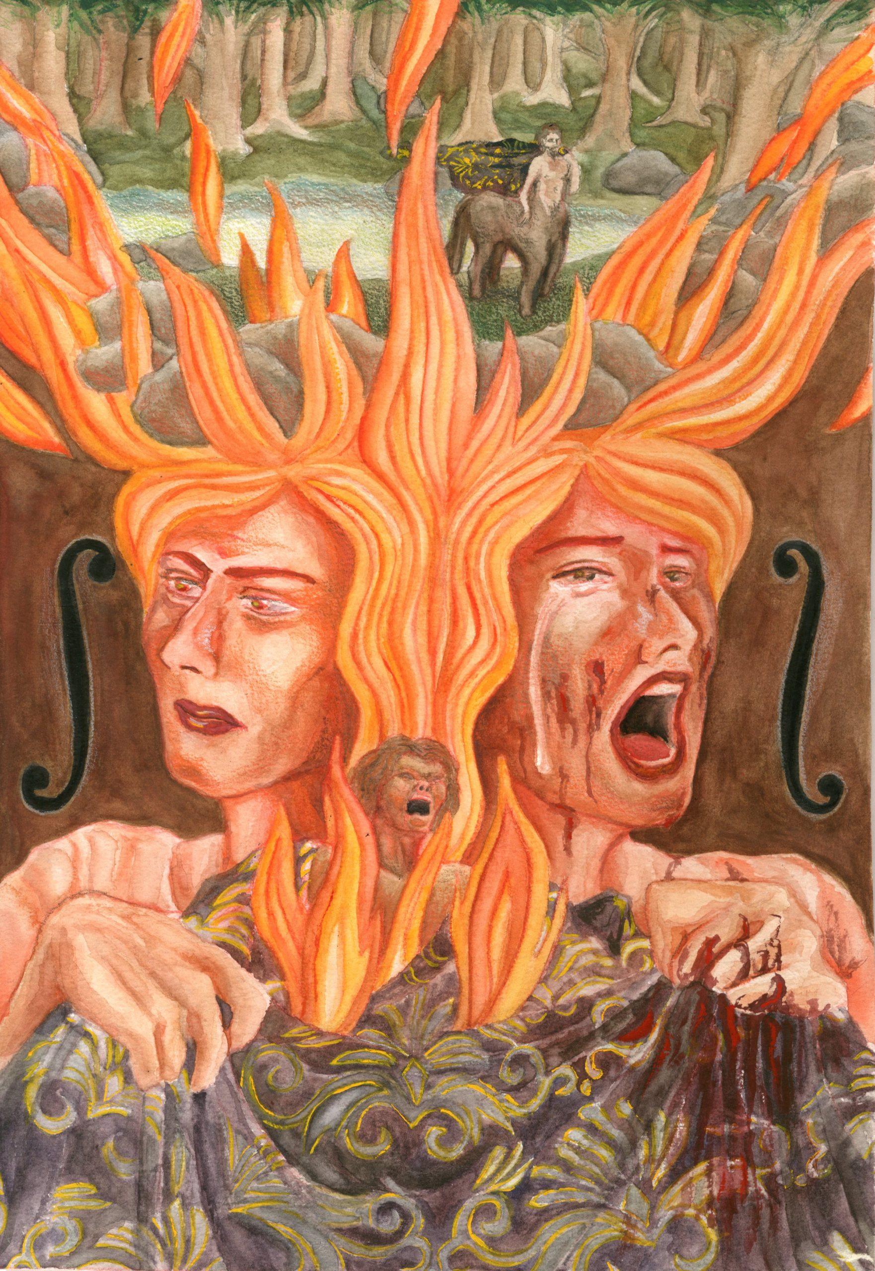 Hercules student artwork from MassArt, Sim