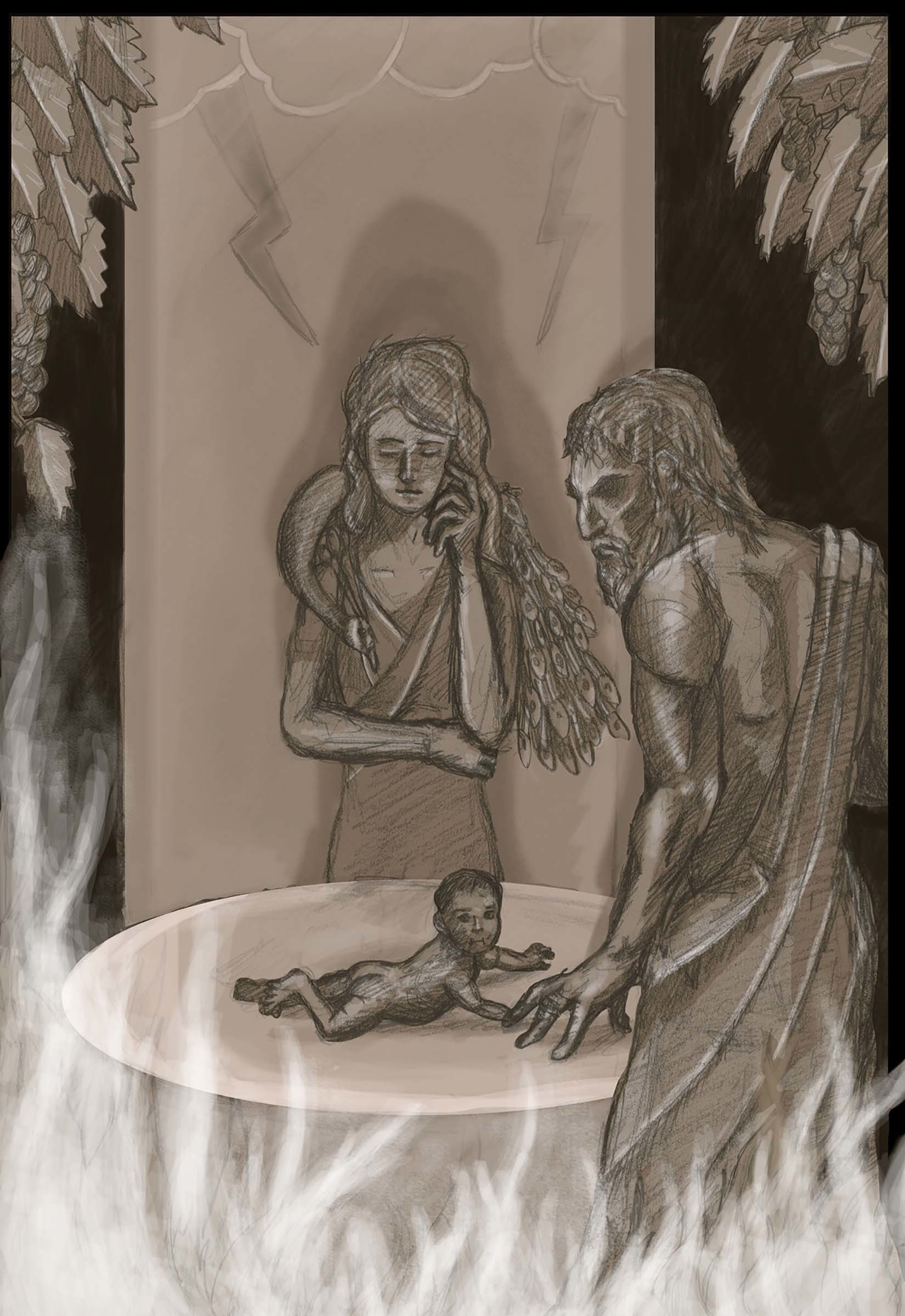 Semele student artwork from MassArt, Dempsey
