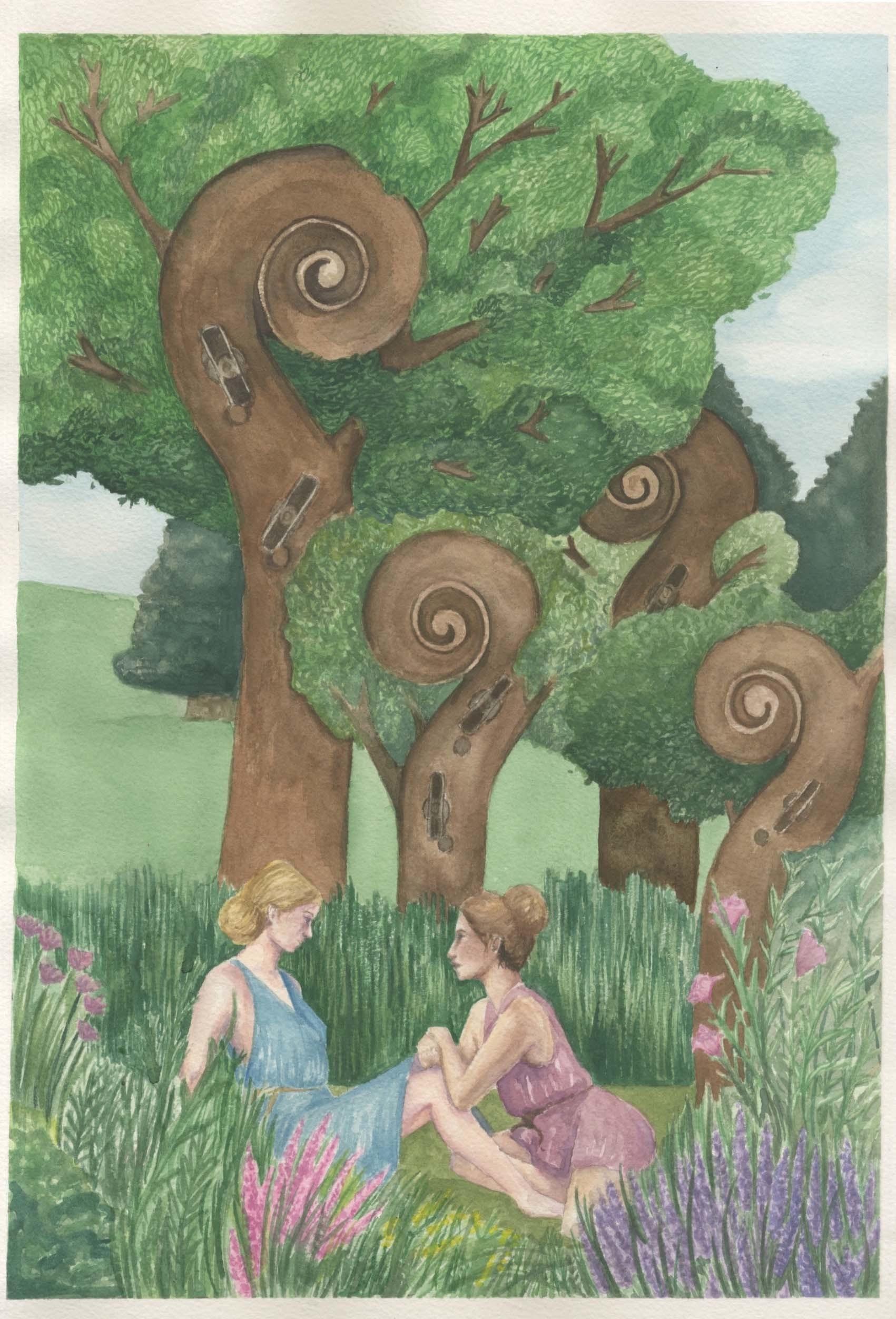 Semele student artwork from MassArt, Grass