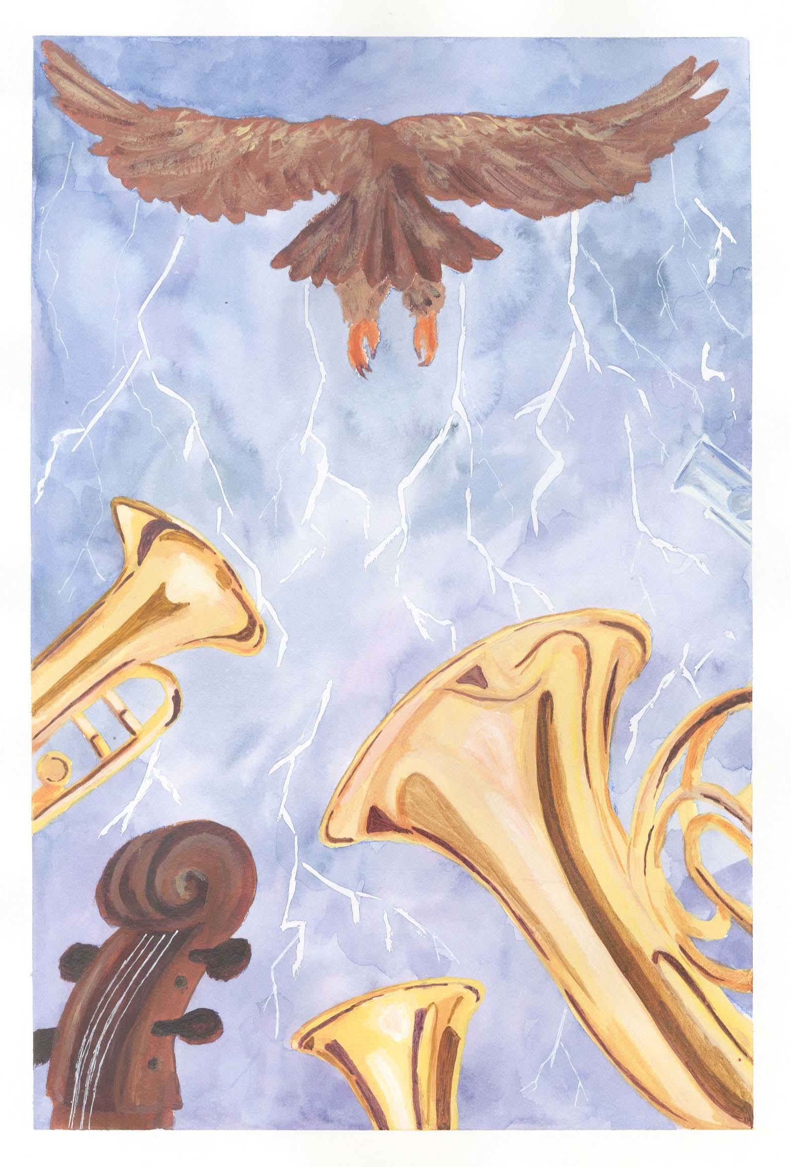 Semele student artwork from MassArt, McDonald