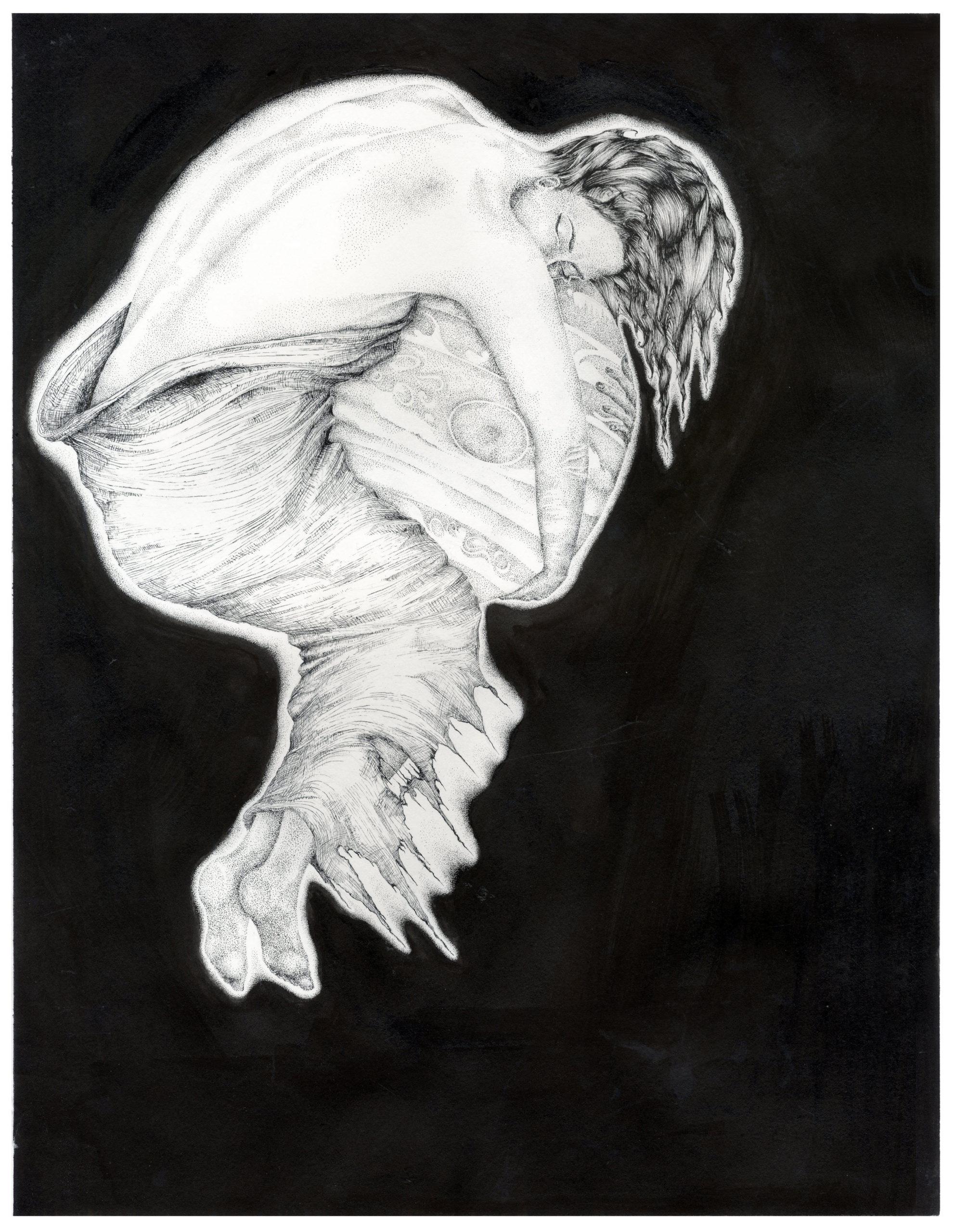 Semele student artwork from MassArt, Tracy Burns