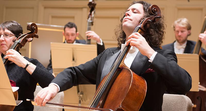 Principal Cellist Guy Fishman playing