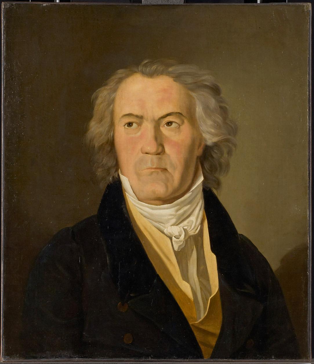 Portrait of Beethoven by Ferdinand Georg Waldmüller, 1823, Kunsthistorisches Museum, Vienna