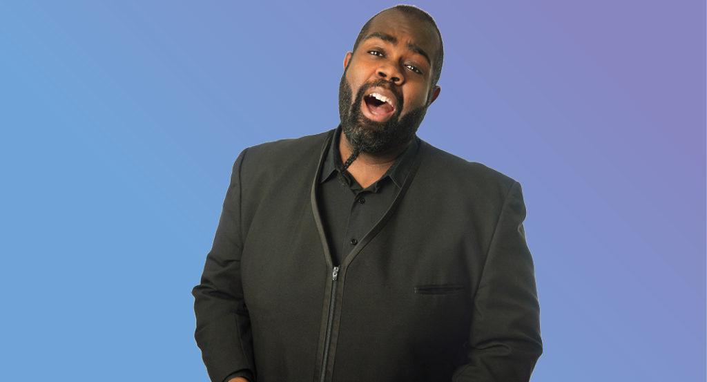 Countertenor Reginald Mobley singing