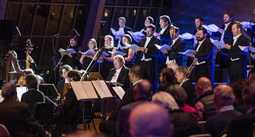 Orchestra and Chorus members in the Met Museum