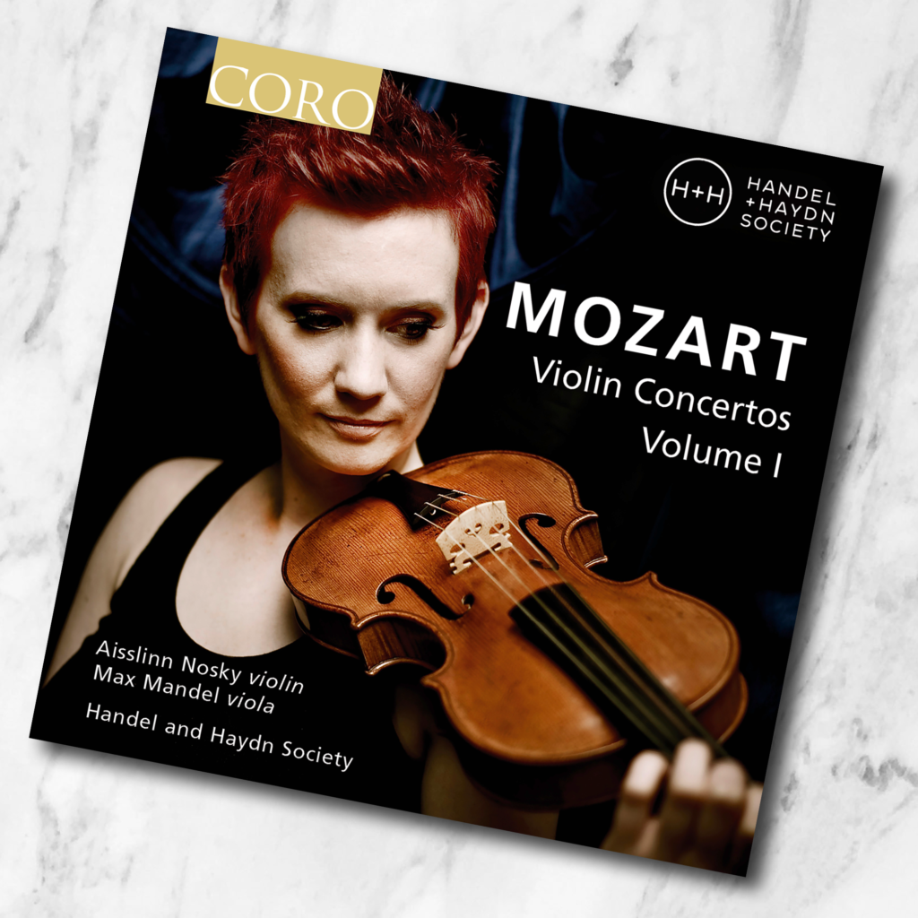Mozart Violin Concertos CD case on marble background