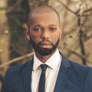 Headshot of Black composer, Jonathan Woody