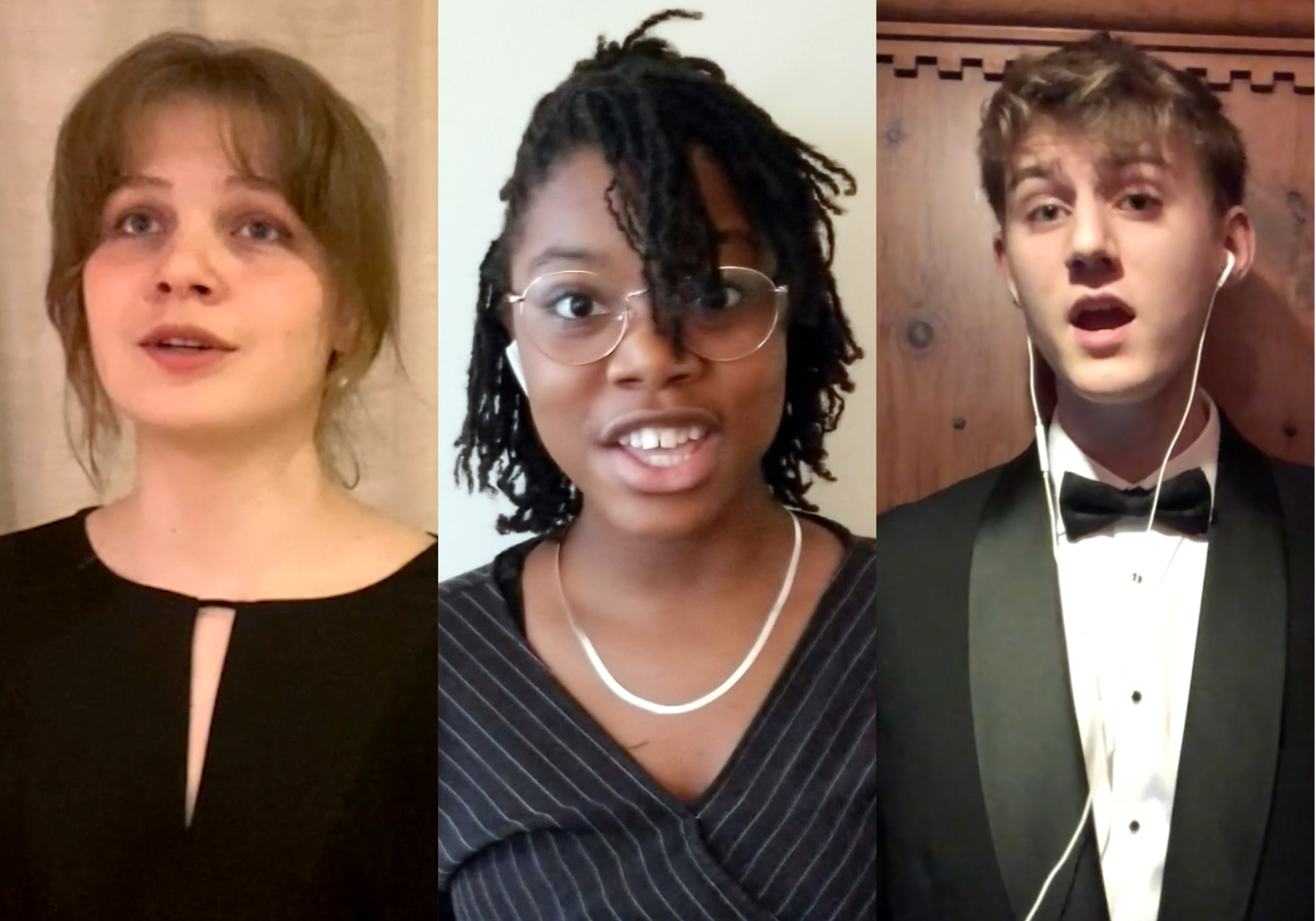 Collage of young singers