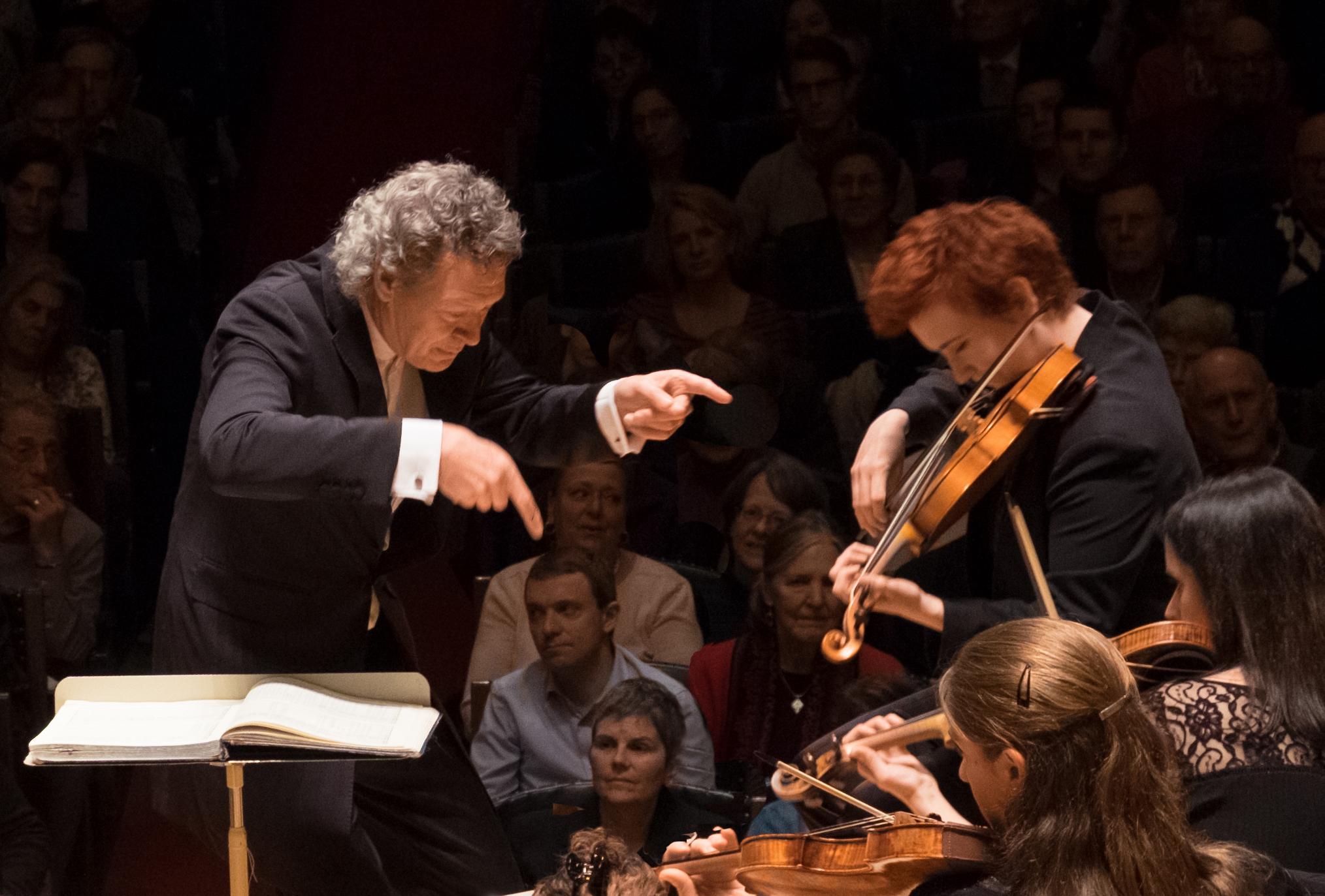 Artistic Director Harry Christophers and Concertmaster Aisslinn Nosky