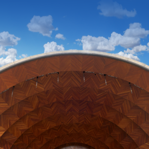 Hatch Shell and blue sky